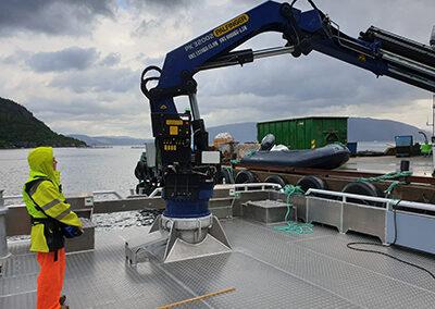 Fastmontert hydraulisk kran (G20)